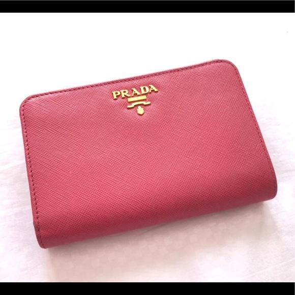 83ff7852a06a Prada Bags | Portafoglio Lampo Wallet In Peonia | Poshmark